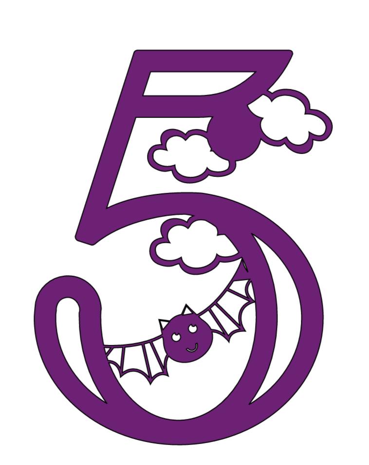 Cricut Halloween numbers, 5