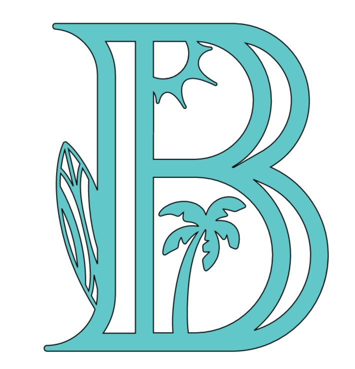 Letter B Beach PNG
