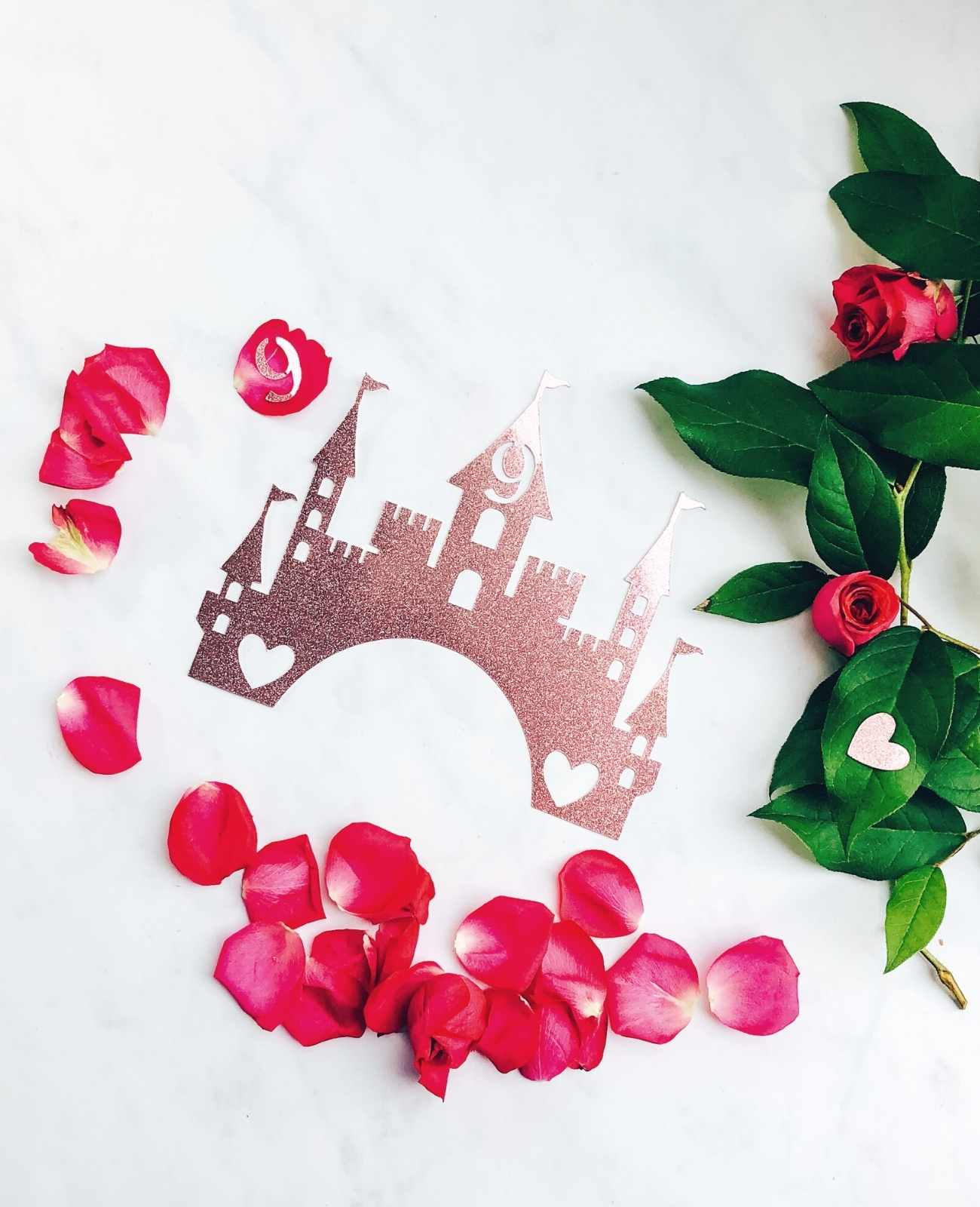 cut files for a princess palace cake topper