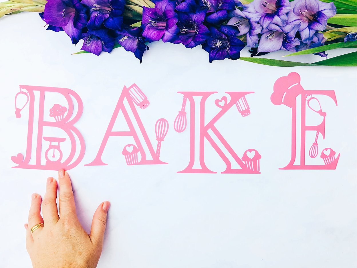 downloadable bakers numbers and letters for Cricut