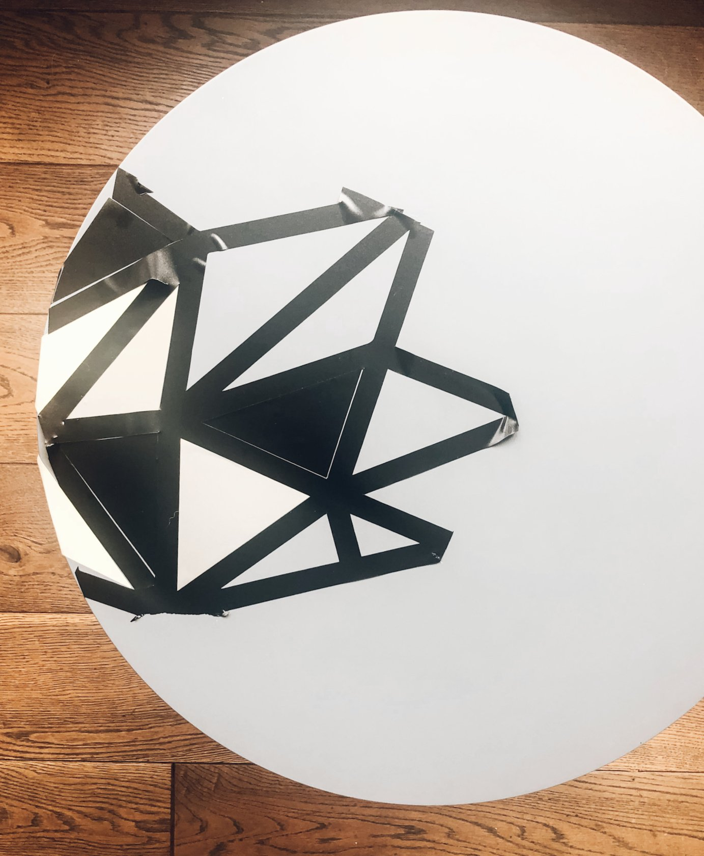 use the outer cuts from the vinyl as a pattern guide to get started