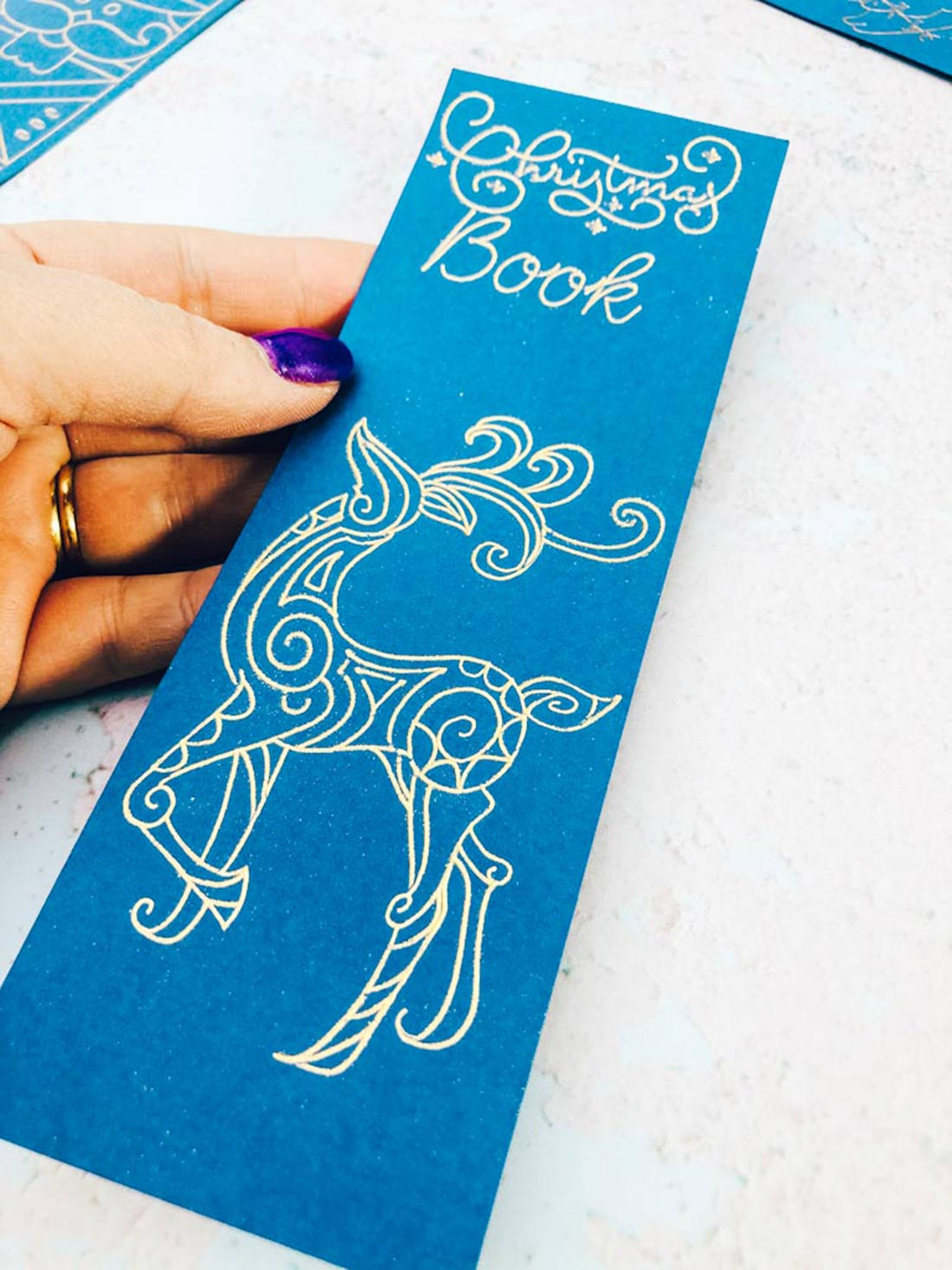 Bookmark made with Cricut Foil