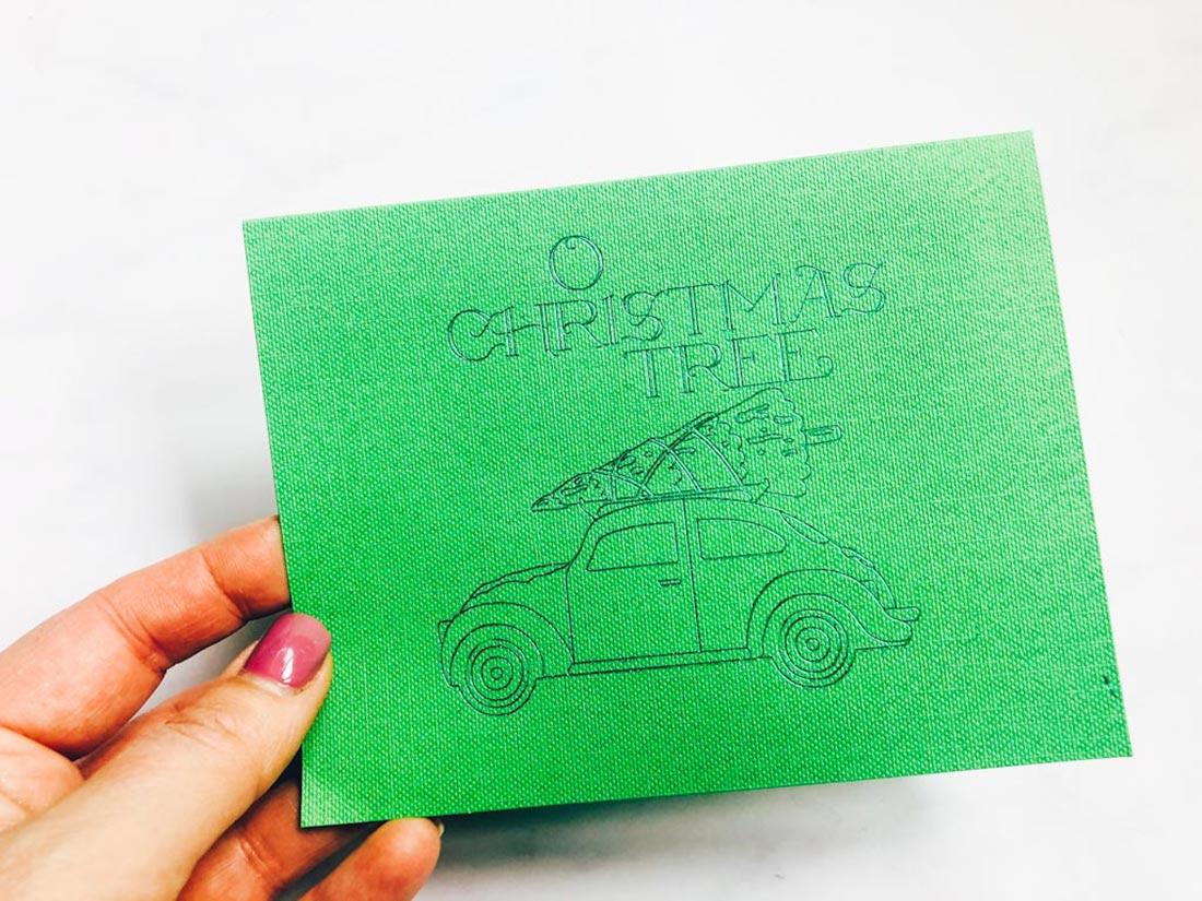 Christmas Card Made With Cricut Foil