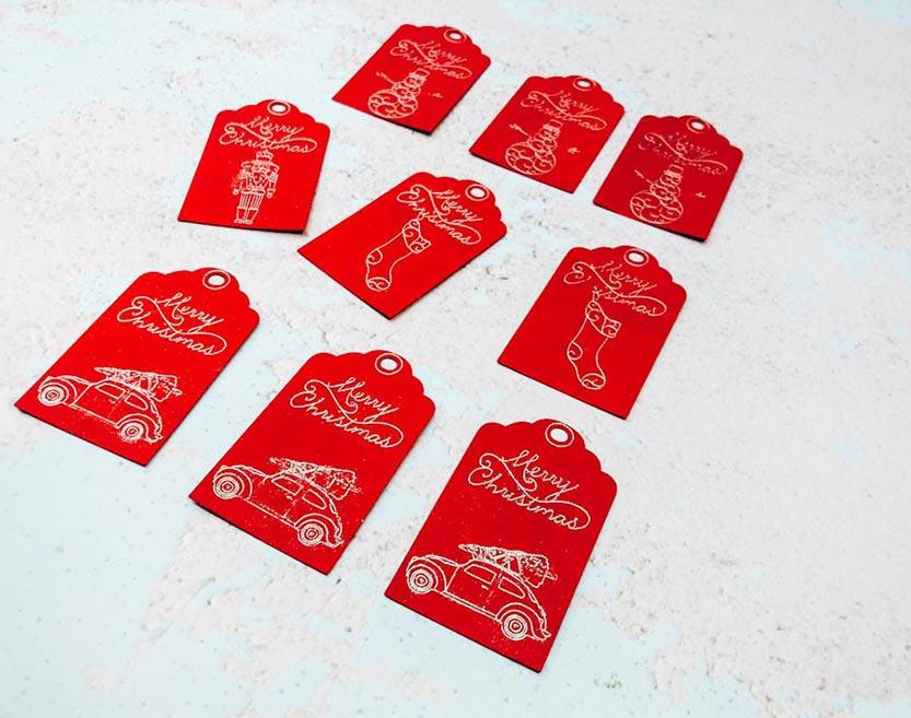 Christmas Cricut Foil Gift Tags