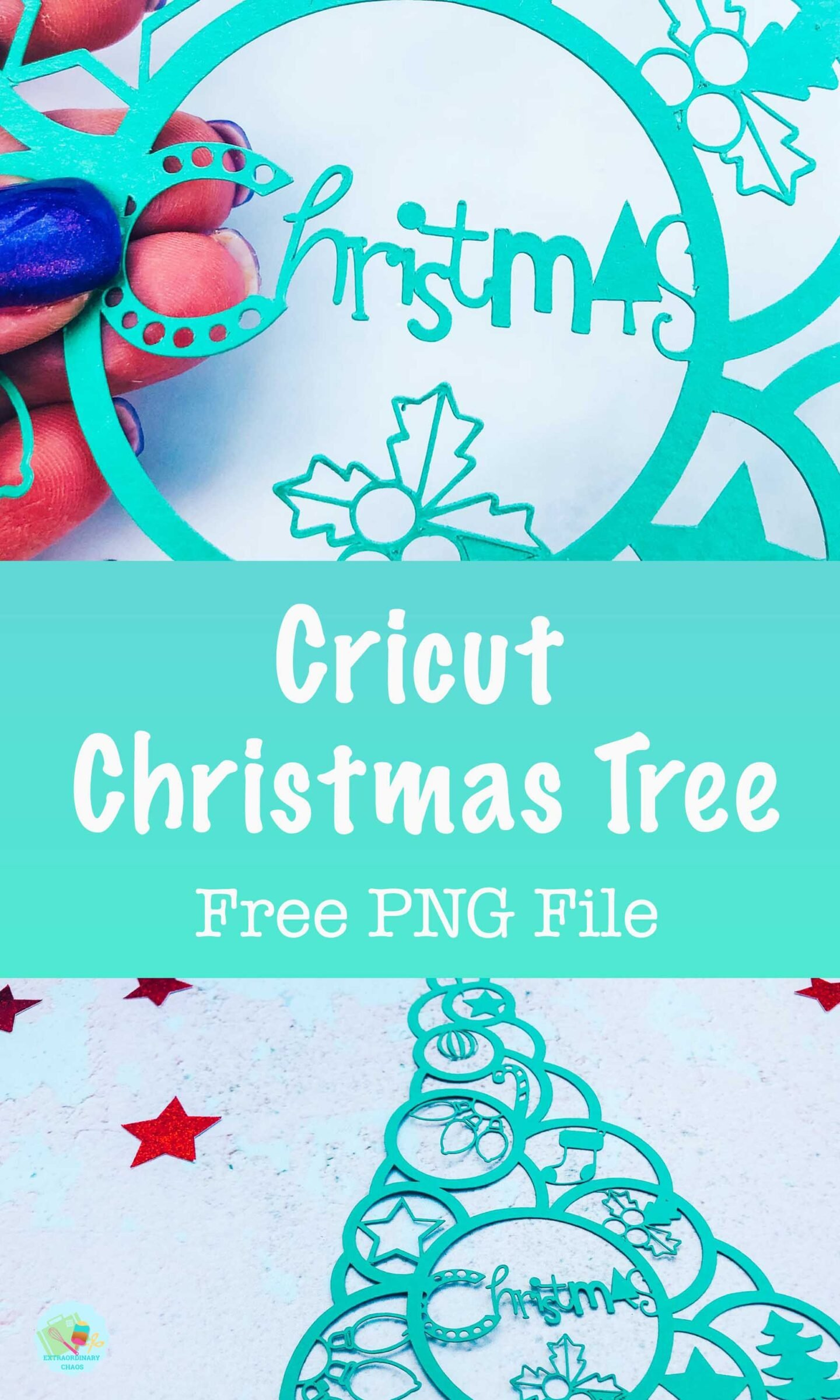 Christmas Tree Cricut PNG File for Mutliple Christmas Craft projects