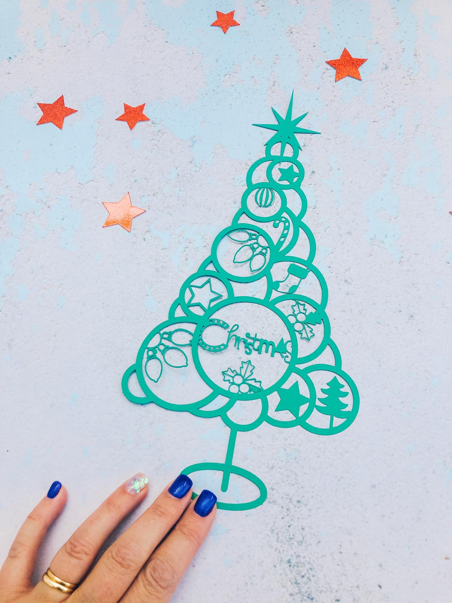 Cricut Christmas tree SVG png file