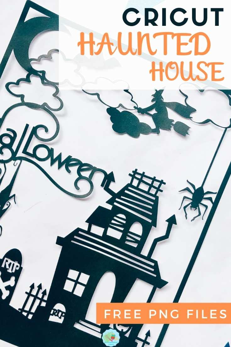 Cricut Haunted House PNG Files for multiple Halloween projects