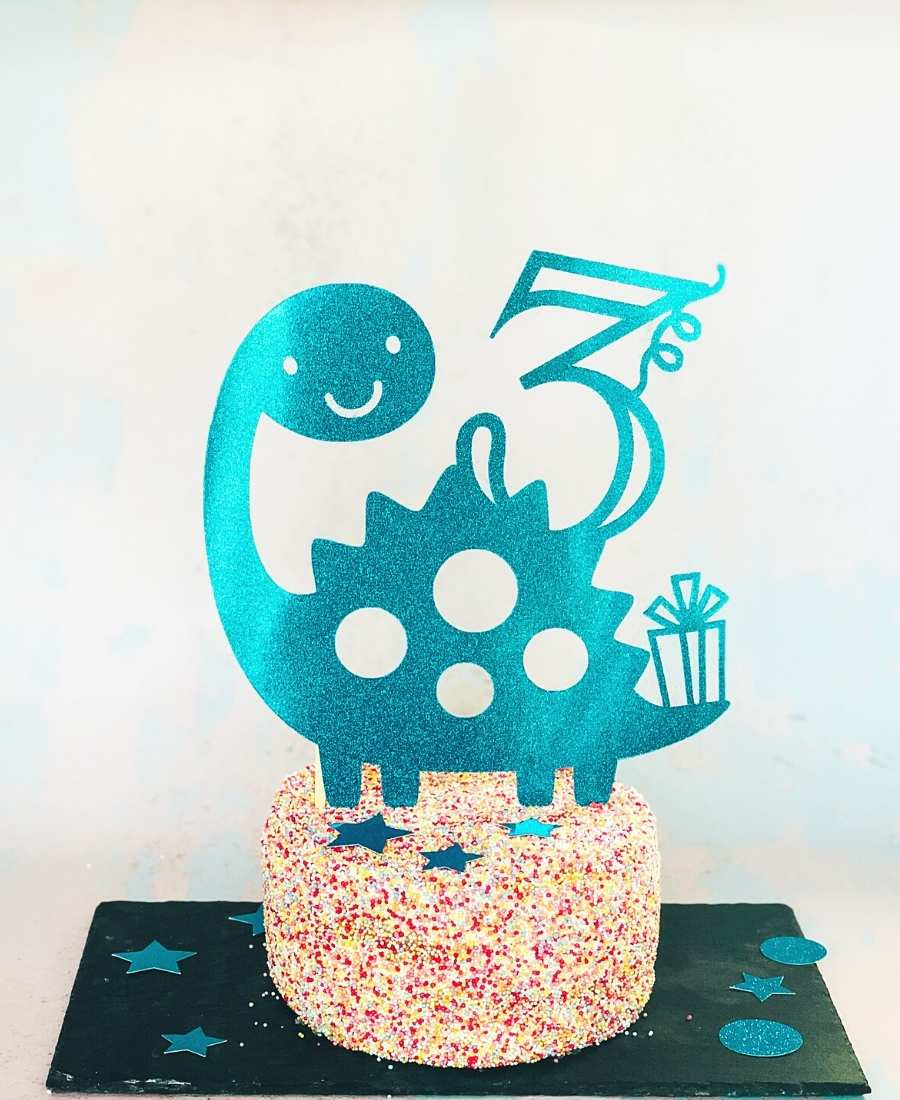 Dinosaur cake topper png file free to download