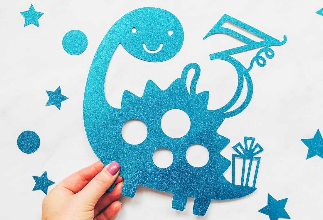 Dinosaur themed cake toppers for parties Free PNG Files