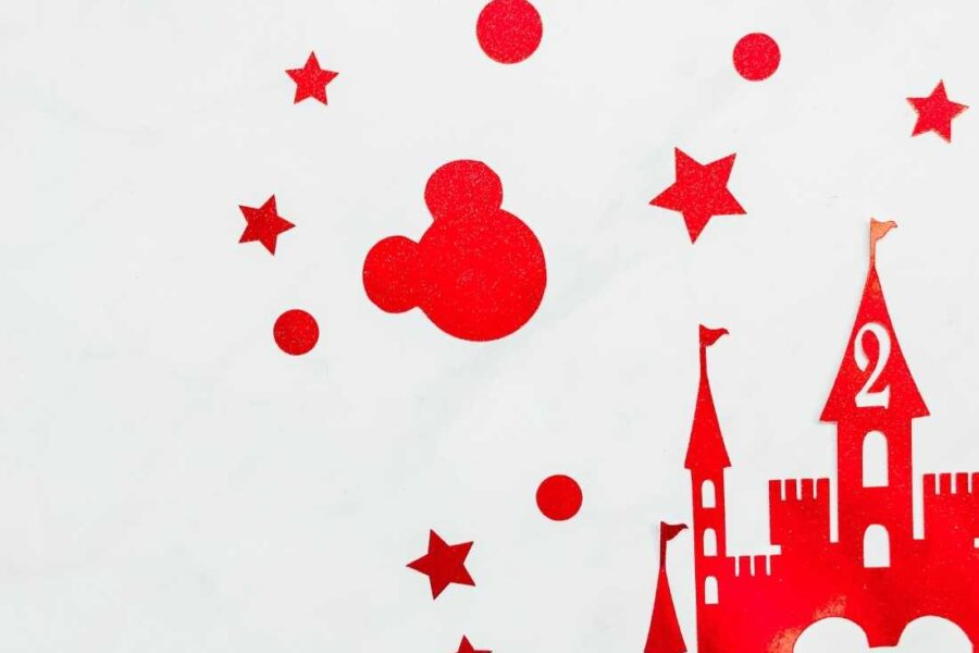 Disney Themed Mickey Castle Cake Topper