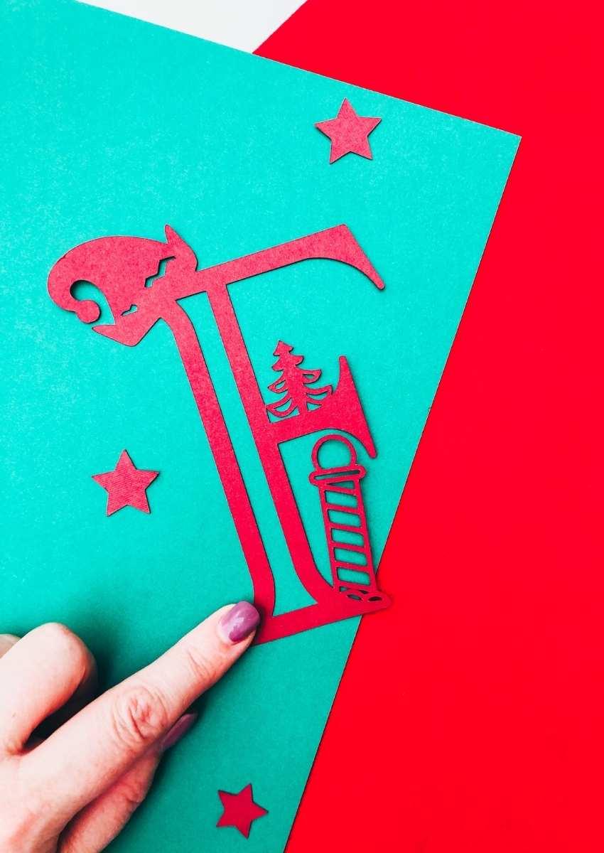 Elf Alphabet For Cricut Cards and crafts