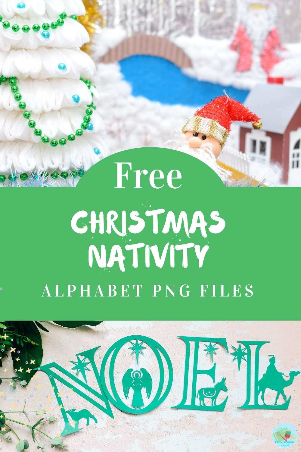 Free Christmas Nativity Alphabet and Numbers png files for Cricut and Silhouette