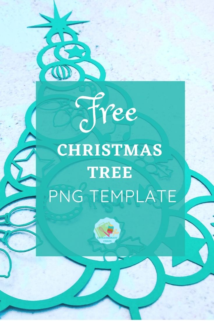 Free Christmas Tree PNG File for Holiday crafts and parties