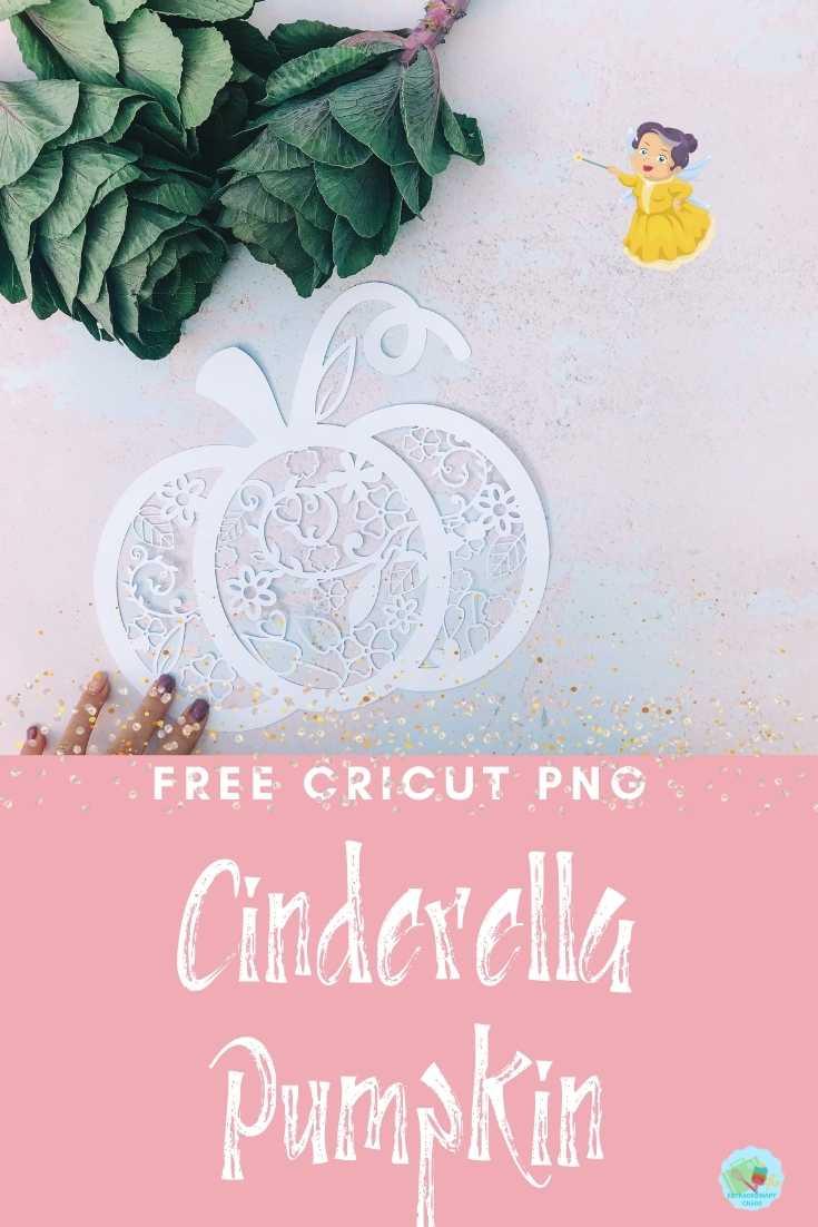 Free Cinderella Pumpkin PNG Template For Cricut Crafts-2