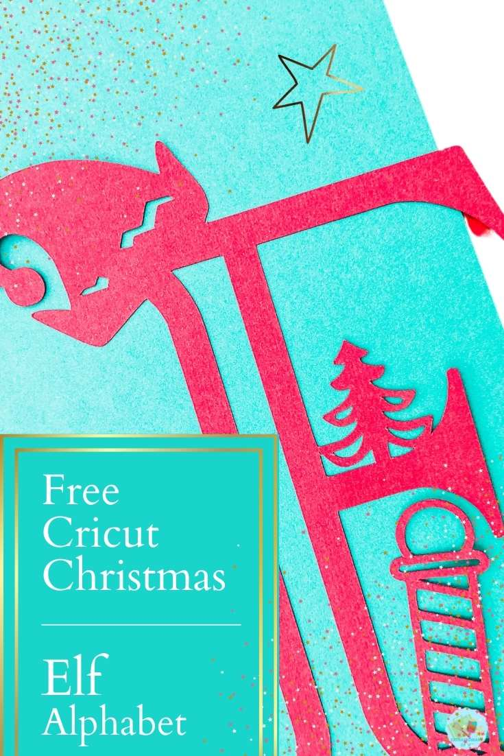 Free Cricut Elf Alphabet for creating Cricut Christmas projects and Christmas crafts