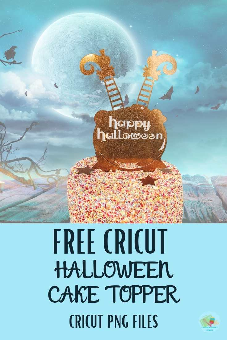 Free Cricut Halloween Cake Toppers PNG Files