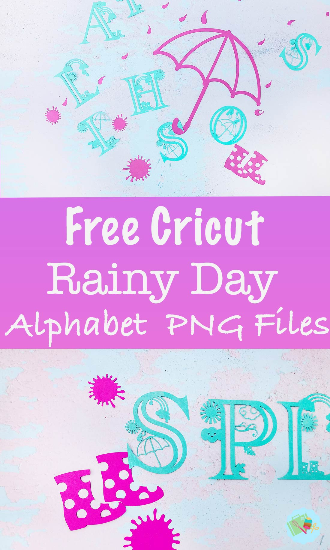 Free Cricut Rainy Day Alphabet PNG Files
