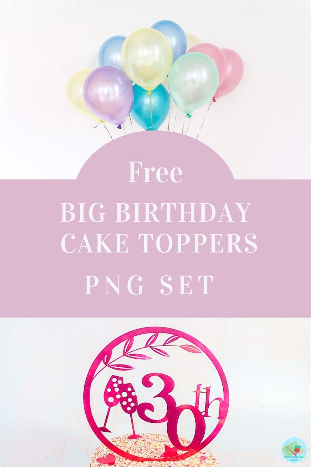 Cricut Special Birthday Milestone birthday cake topper files PNG Files for multiple decorating birthday cakes