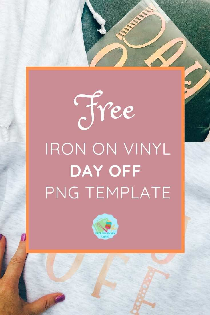 Free png file and iron on vinyl cricut project tutorial to make a day off hoodie