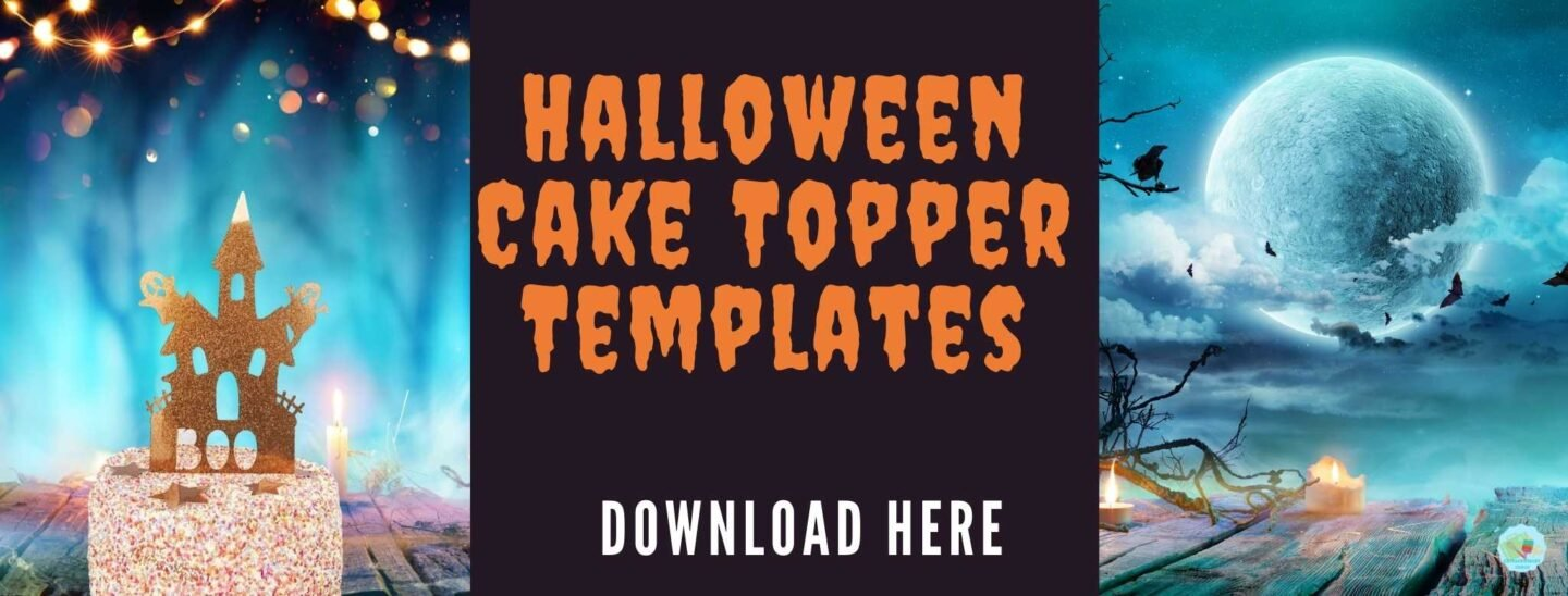 Halloween Cake Topper Templates