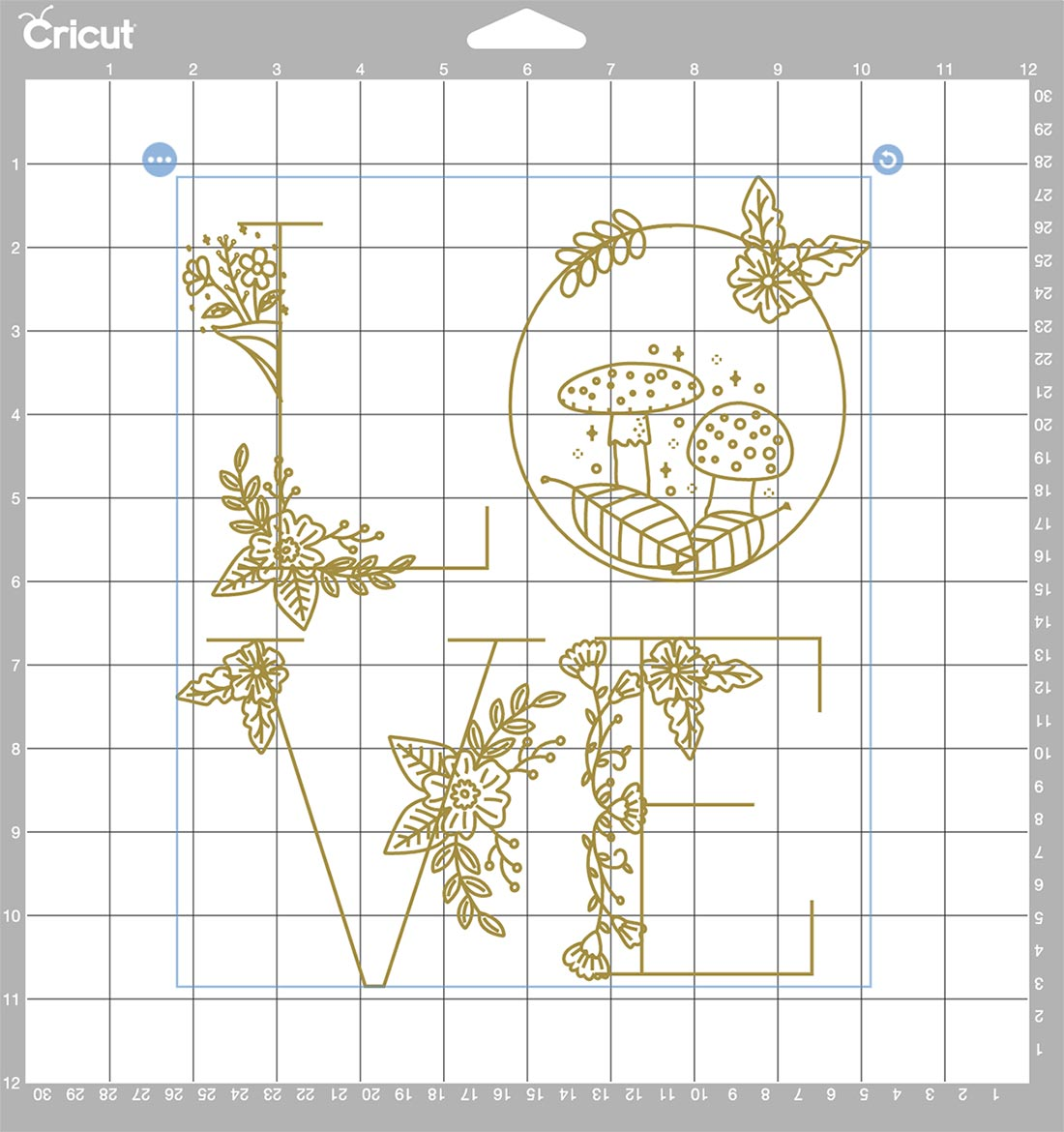 How ot position your Cricut Foil Projects on your cutting mat