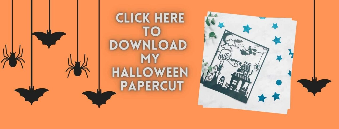 Click here to get my free haunted house cut file