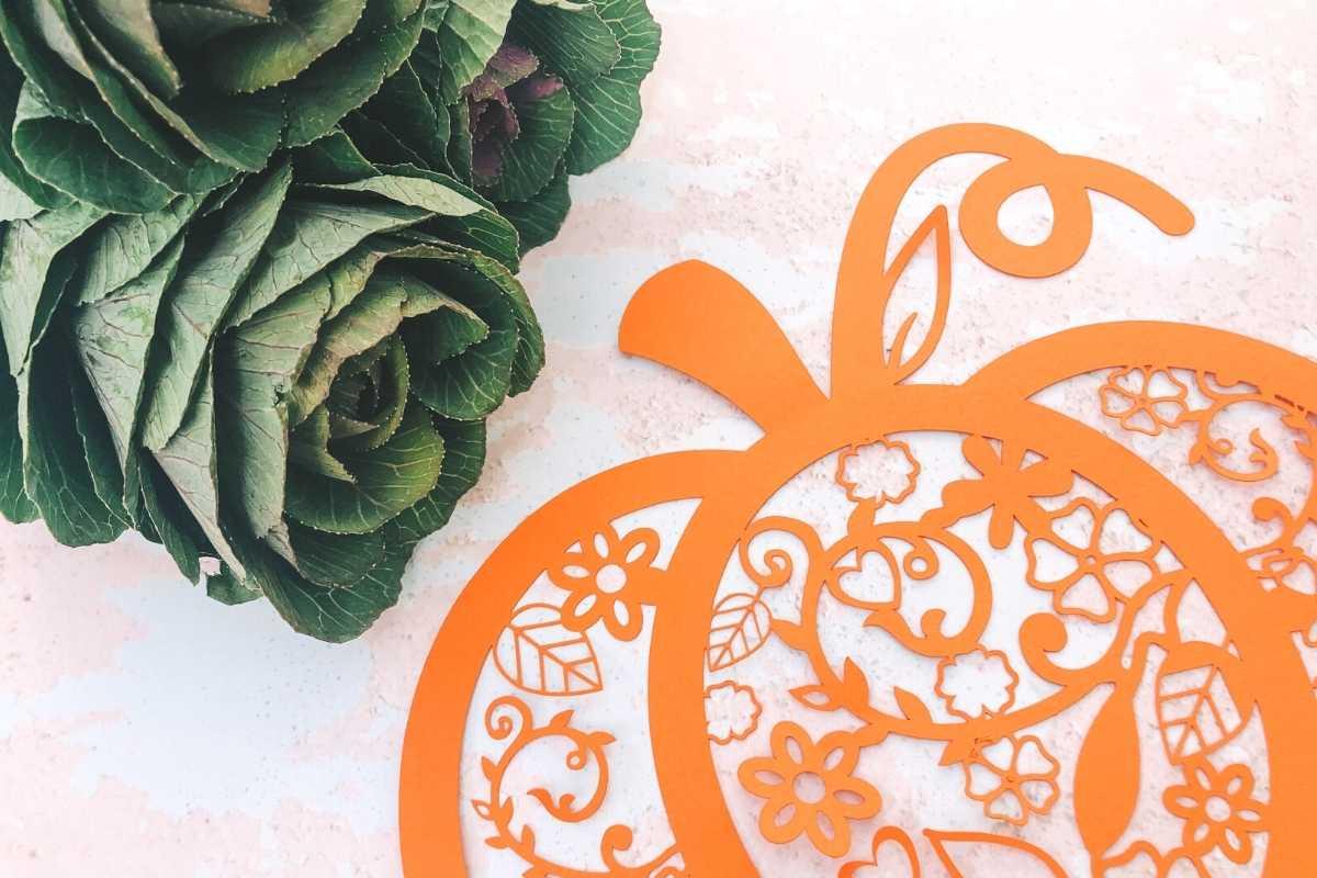 Pumpkin Paper cut template for Halloween