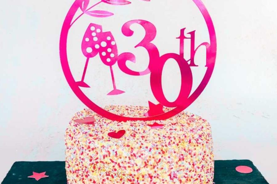 Milestone birthday cake topper