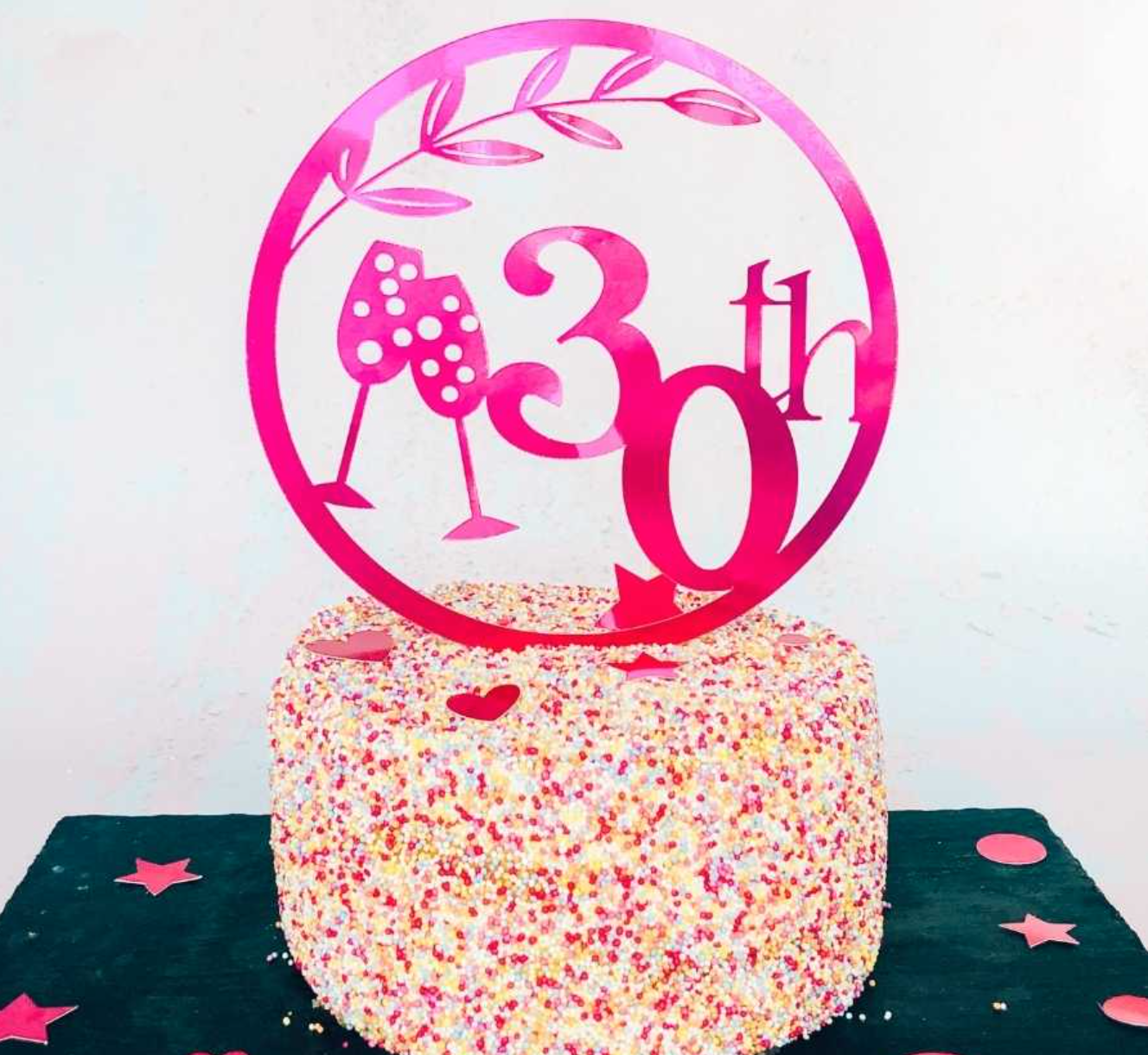 Milestone birthday cake topper