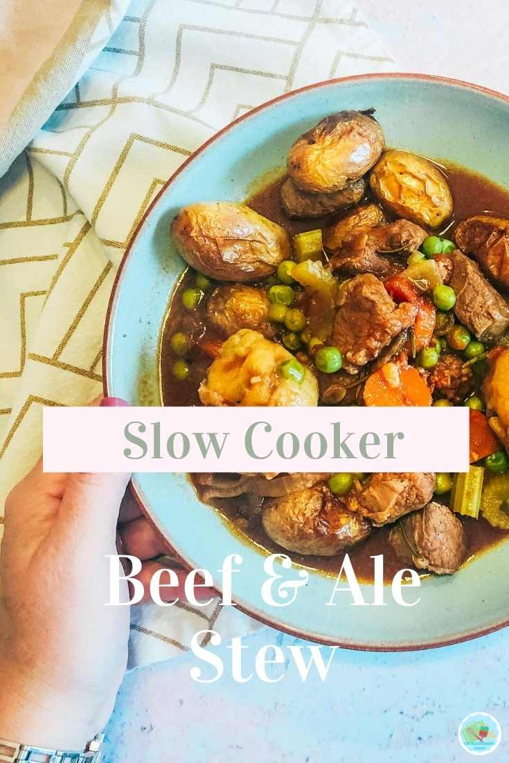 Slow Cooker Beef And Ale Stew Recipe a one pot easy family meal.