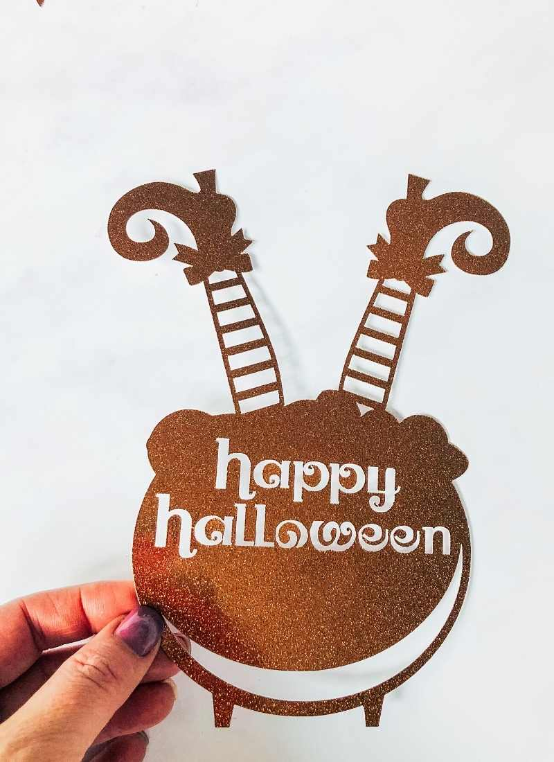 Spooky Witch Halloween Cake Topper PNG File