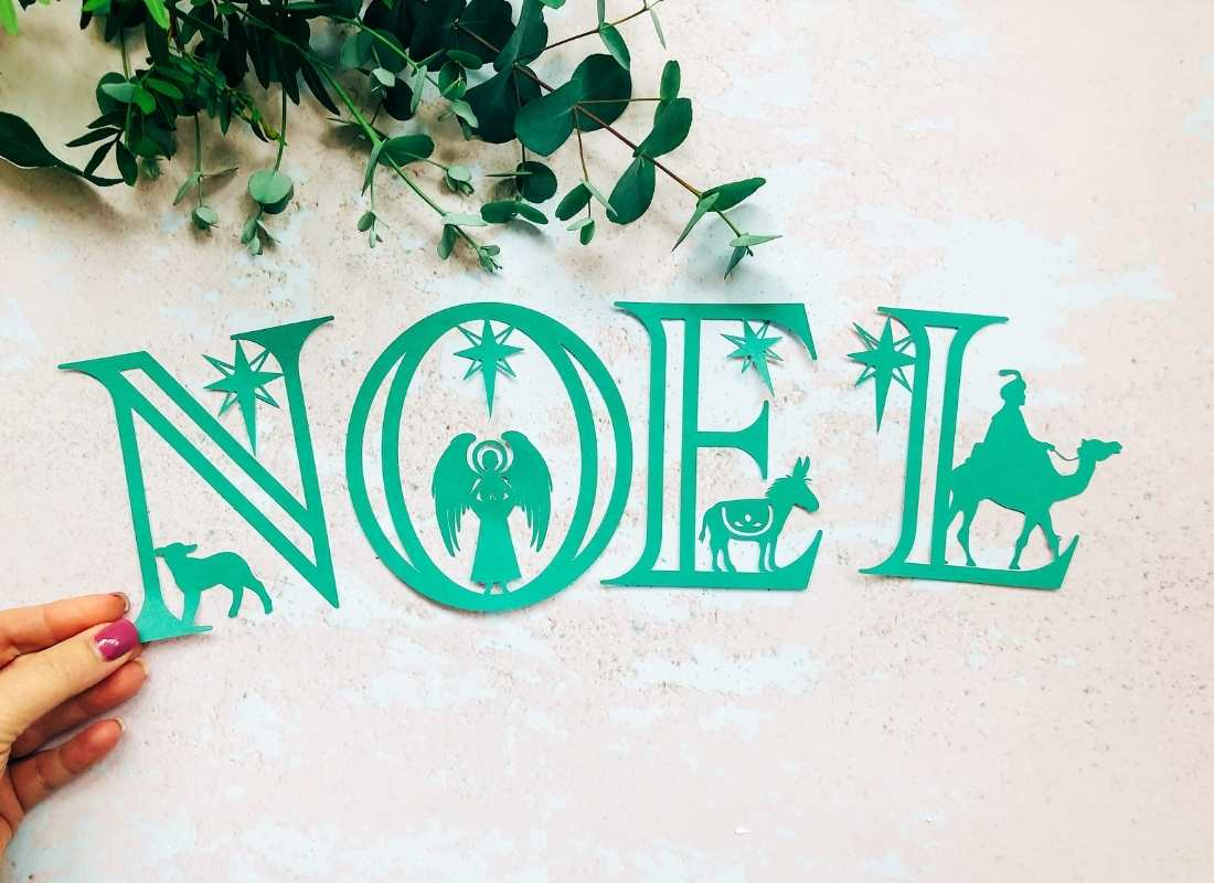 The Nativity Cricut Alphabet and numbers for Christmas Craft Projects