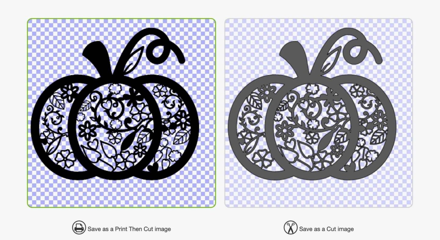 choose whether you want print and cut of cut