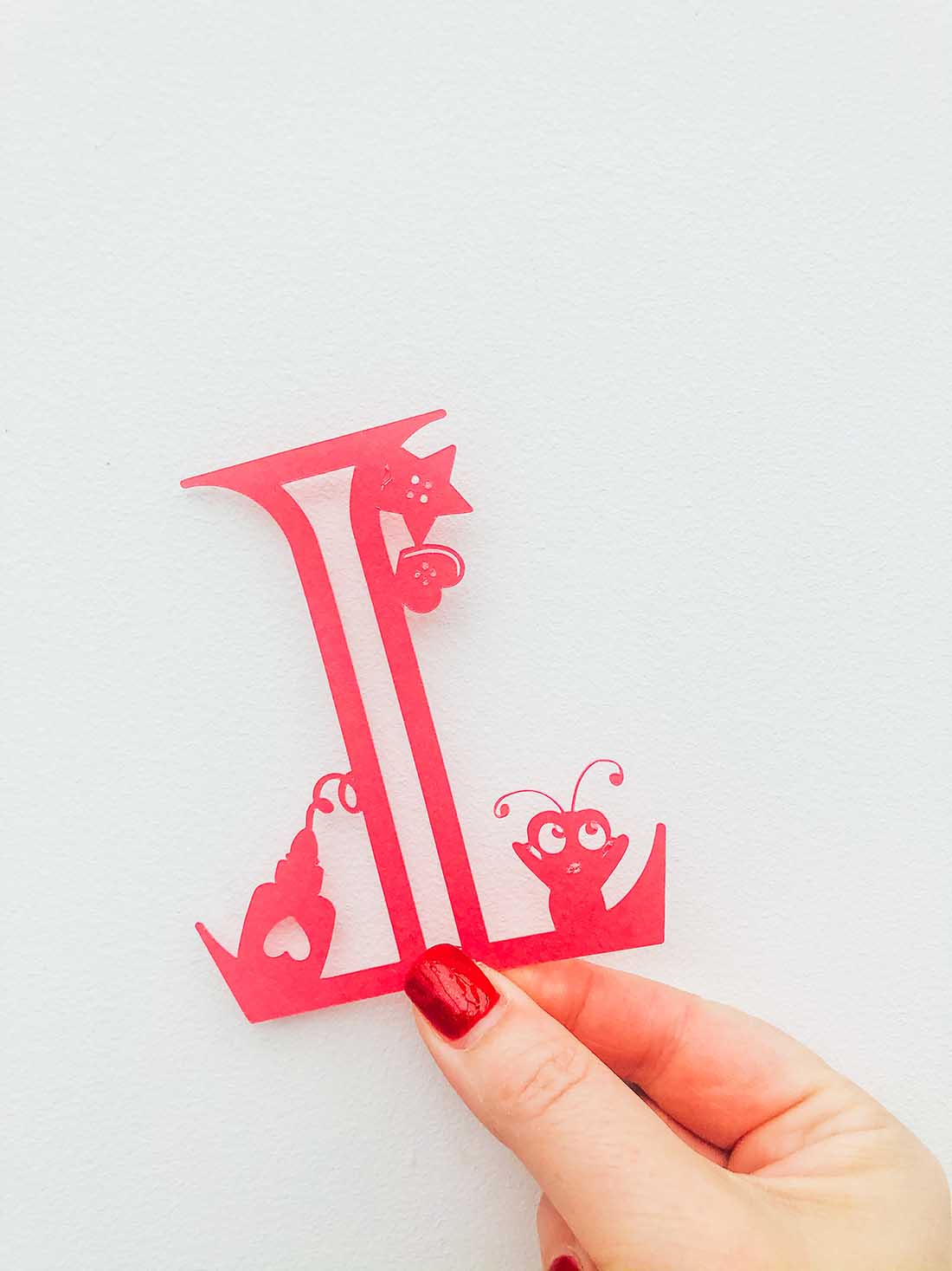 Letters and numbers to create a crafters room interior