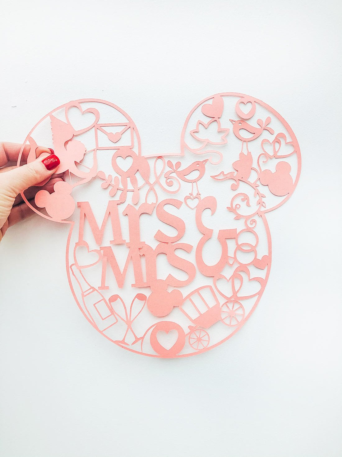 Brides Mickey Mouse Cut File for Wedding Decorations_