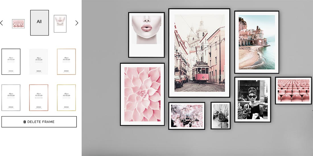 Choosing frames for your Desenio feature wall