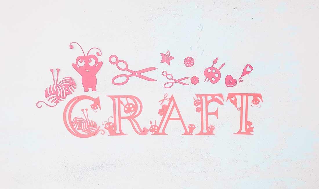 Craft alphabet for Cricut Crafters