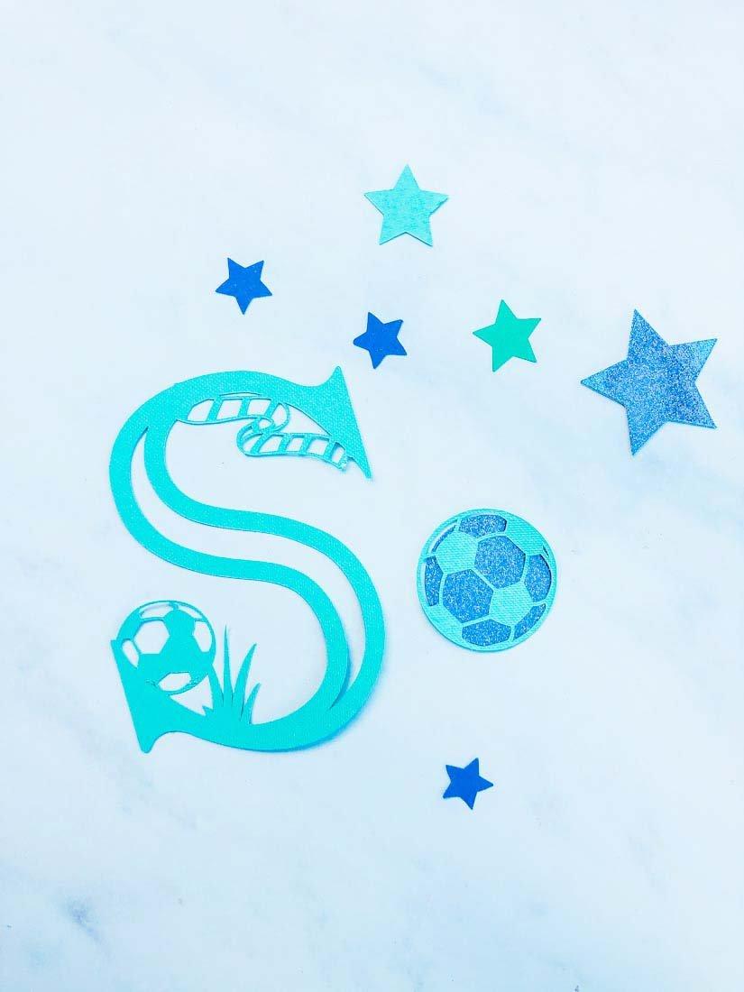 Creating kids Crafts with Cricut and creating DIY Football Decor