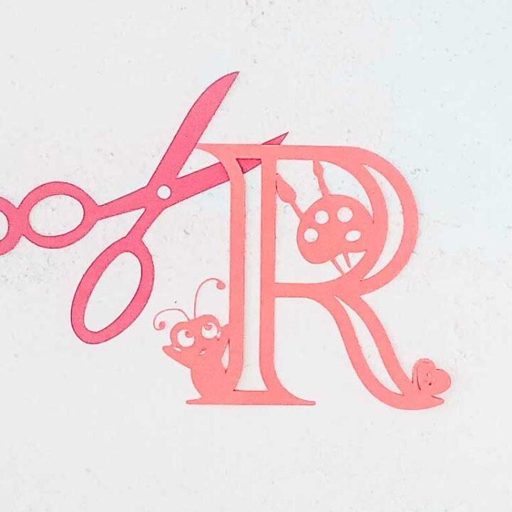 Cricut Craft alphabet