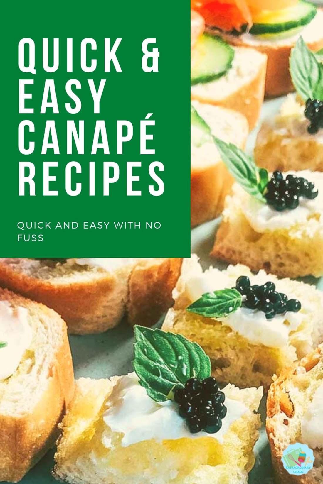 Easy Canapé Recipes For Christmas Day