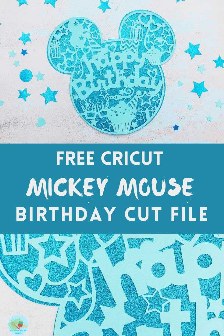 Free Cricut Mickey Mouse Downloadable Happy Birthday Cut File
