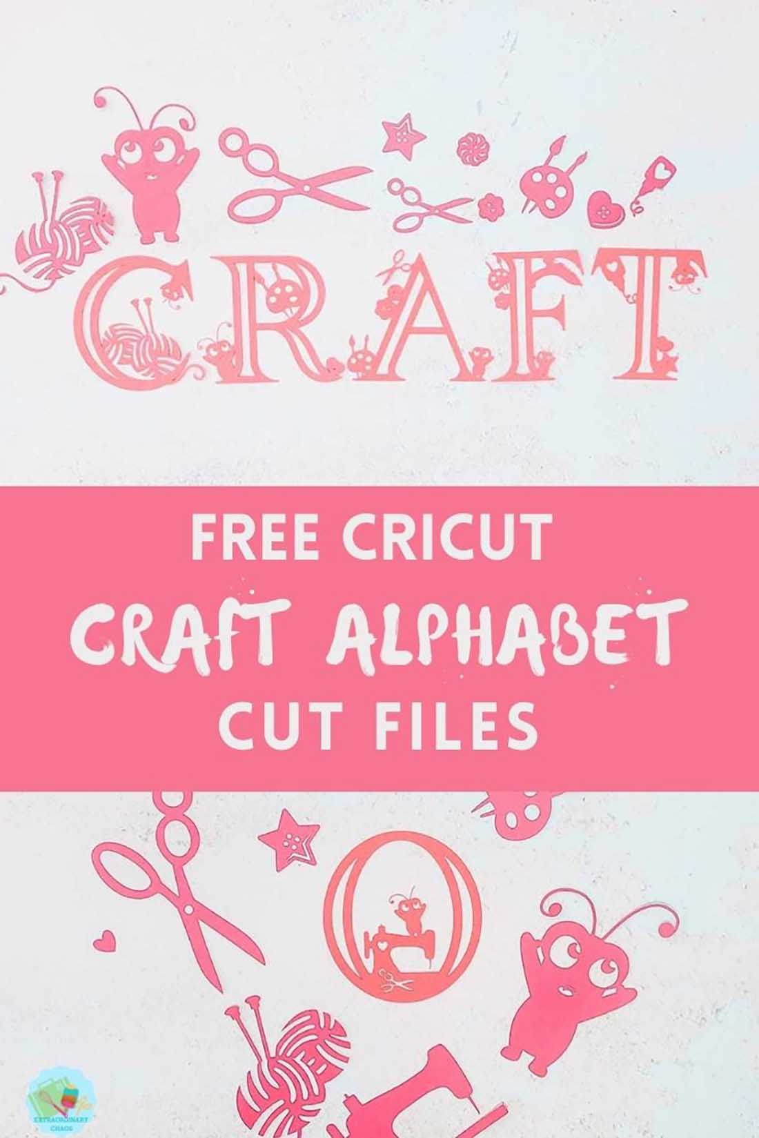 Free Cricut Downloadable craft alphabet Cut File