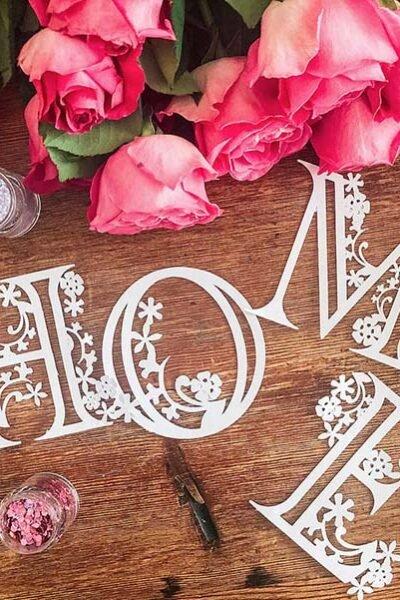 Free Cricut Floral Alphabet designed by Sarah Christie