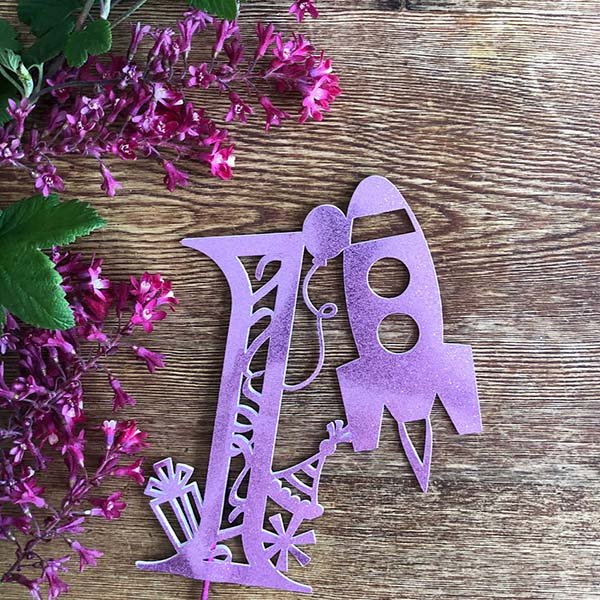 Free Cricut Cake Toppers designed by Sarah Christie