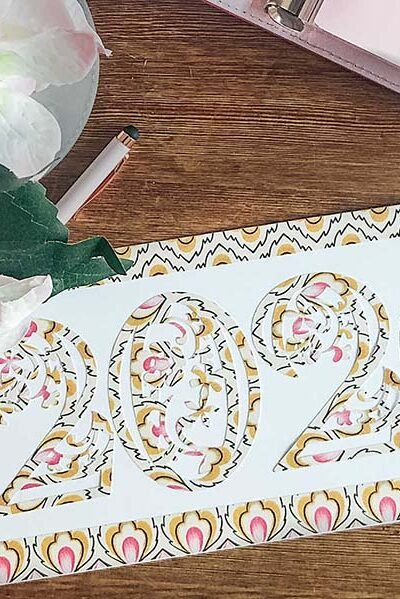 Free Cricut Floral Numbers designed by Sarah Christie