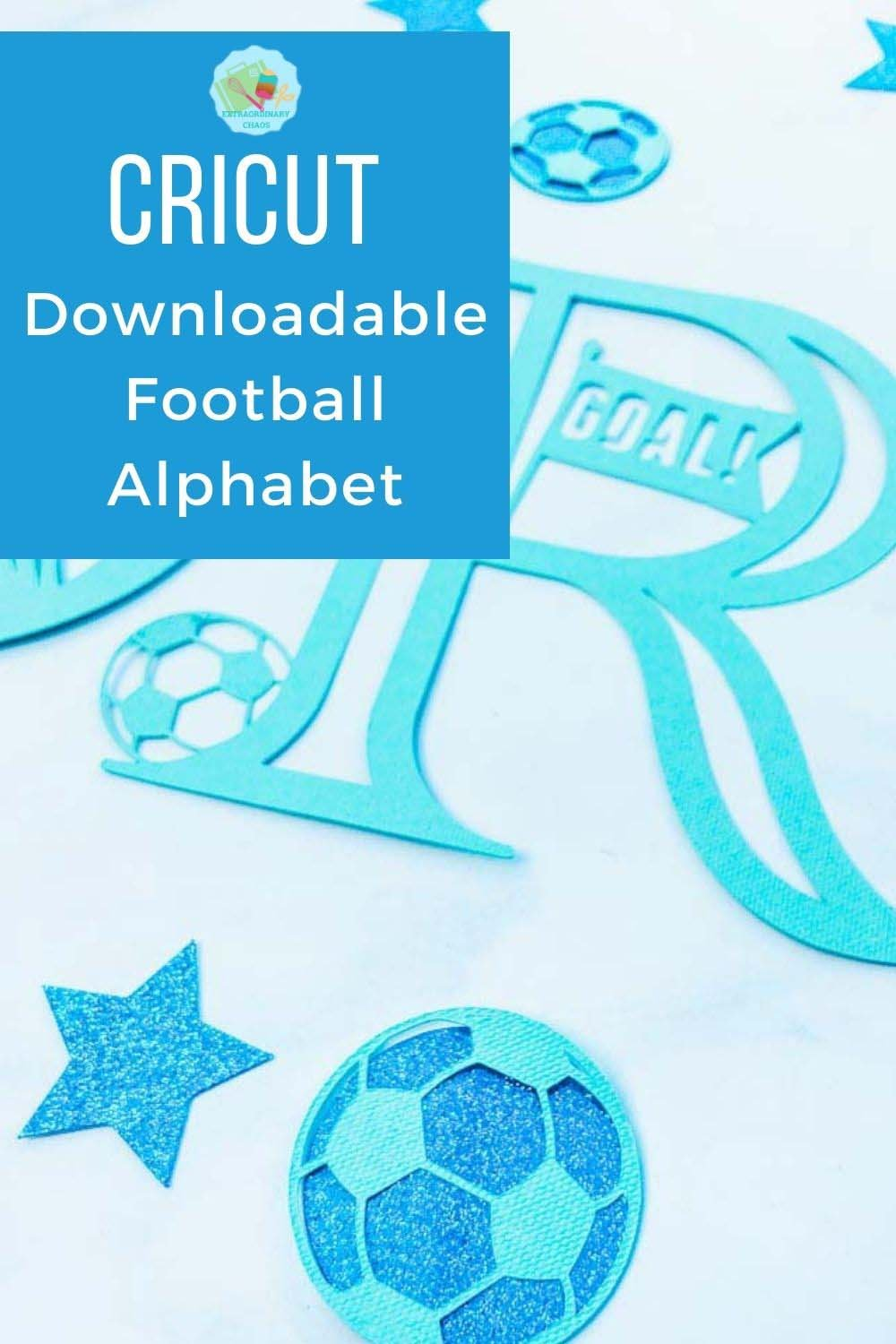 Free Cricut Football Alphabet and numbers PNG files for DIY Football Decor