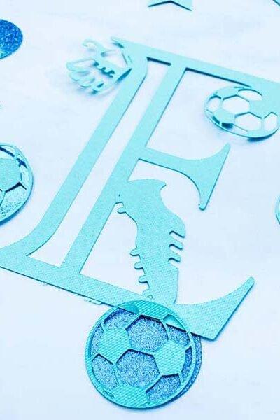Free Cricut Football Alphabet designed by Sarah Christie