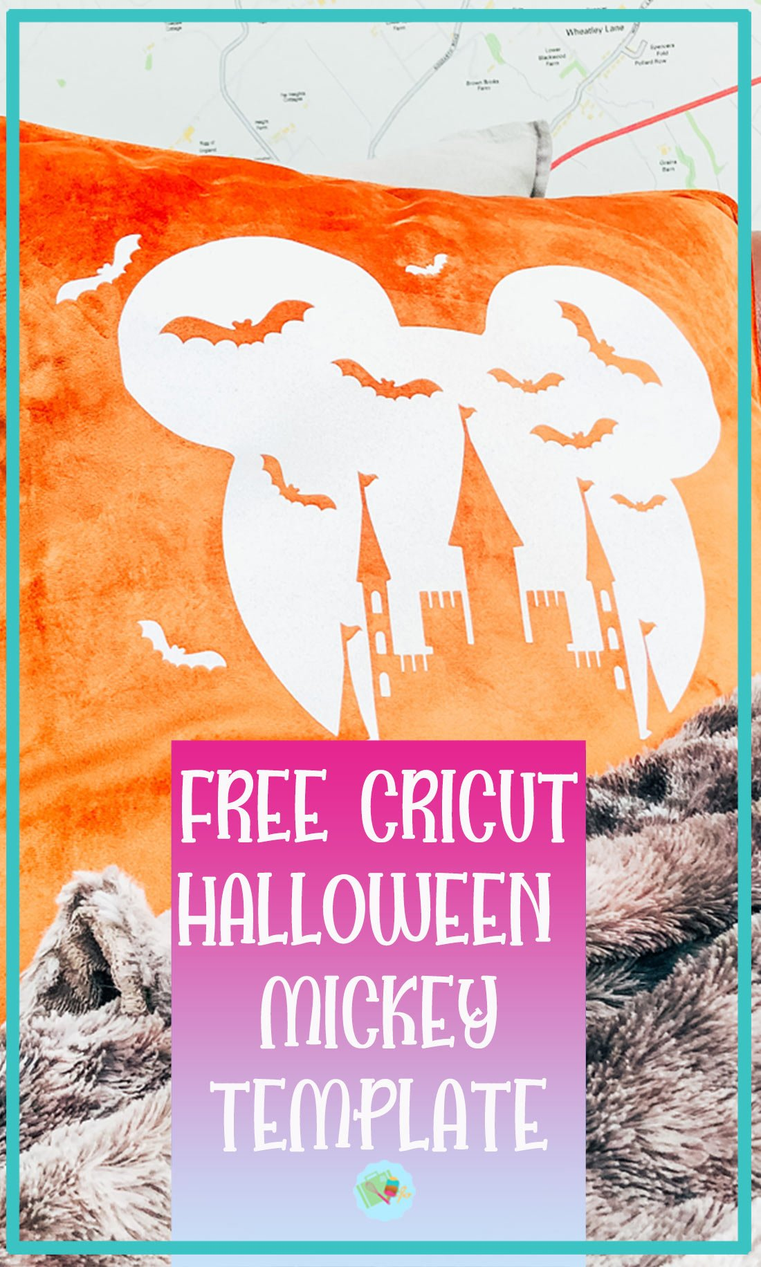 Free Cricut Halloween Mickey Template PNG File