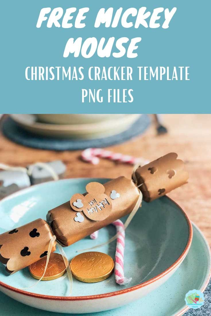 Free Cricut Mickey Mouse Christmas Cracker Template and step by step tutorial