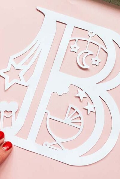 Free Cricut New Baby Alphabet designed by Sarah Christie